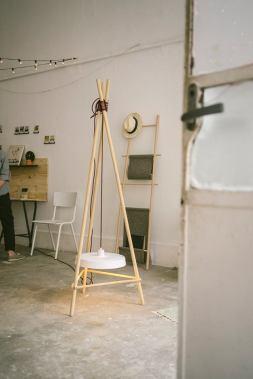 Lampadaire Tipi - Anja Clerc Design - exposition Lyon