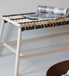 Banquette banc Adélaïde - mobilier bois local made in France - Anja Clerc Design