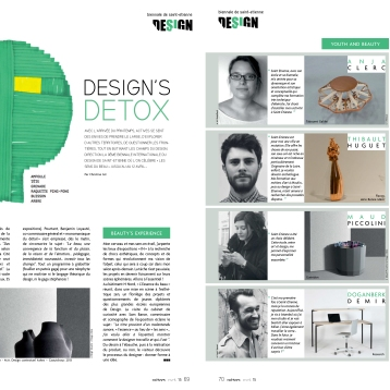 Actives Magazine - Presse Anja Clerc Biennale Design Saint-Etienne - assise