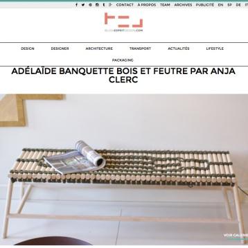 Blog Esprit Design BED Banquette tressage matières écologique