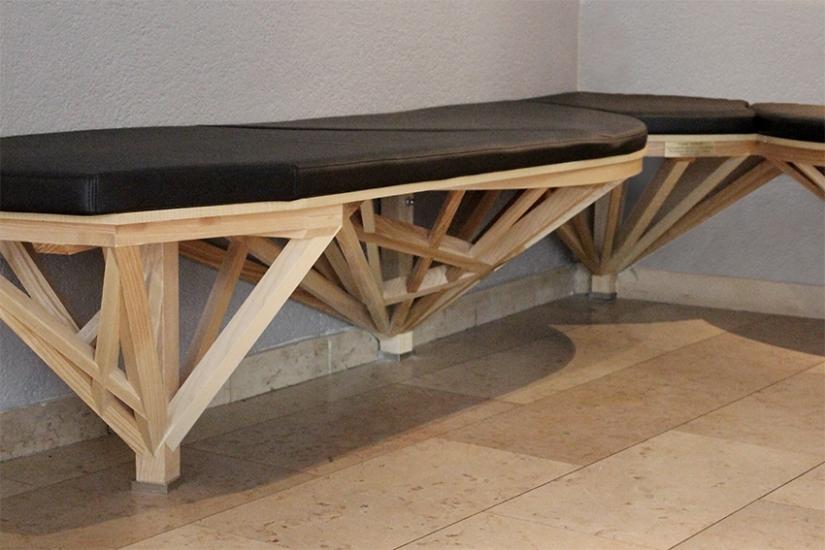 Banquette Compagnon - Structure ornement - mobilier sur-mesure - savoir-faire - Anja Clerc Design