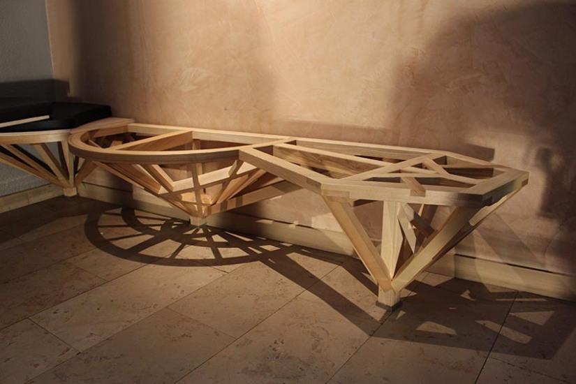 Banquette Compagnon - Structure ornement - mobilier sur-mesure - ébénisterie - savoir-faire - Anja Clerc Design