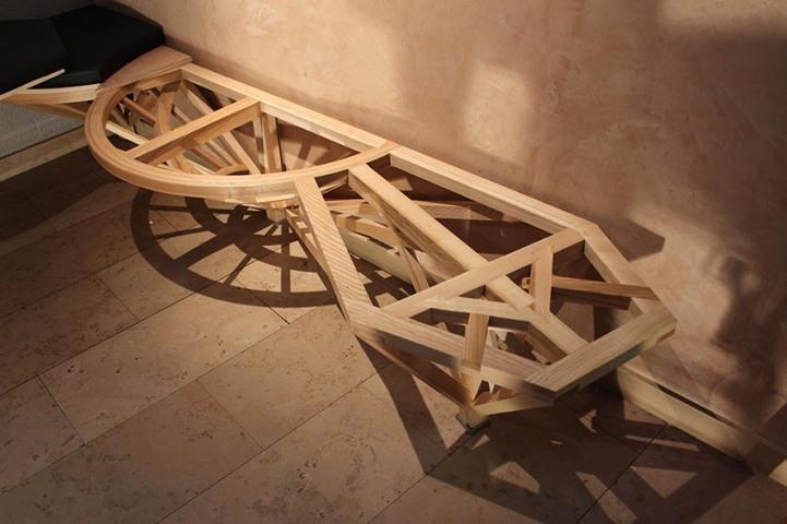 Banquette Compagnon - Structure ornement - ébénisterie - savoir-faire - Anja Clerc Design