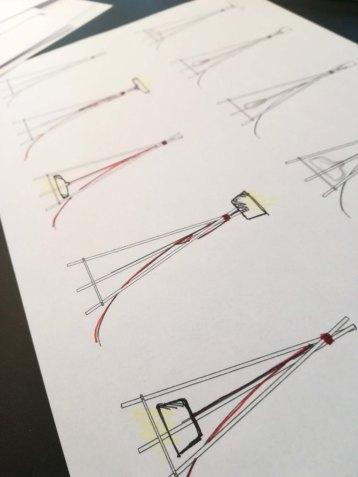Conception et création de la lampe Tipi - Anja Clerc Design