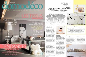 Domodéco - Presse Anja Clerc Design - Printemps des Docks - banquette bois
