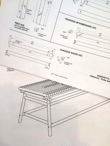 Mis en plans - fabrication mobilier (banquette) - Anja Clerc Design