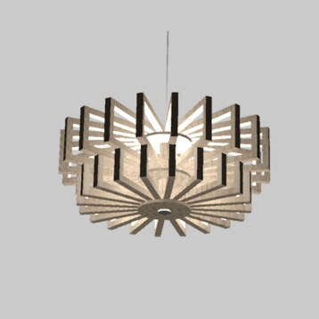 Lustre Isaac Junior 3D - Recherches - Anja Clerc Design