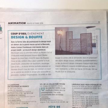 Le Petit Bulletin Saint-Etienne Anja Clerc Design - Brunch Design