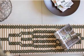 Mobilier design éco-responsable - banquette bois et feutre - made in France