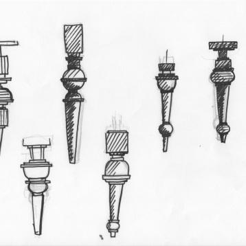 Recherches formes projet de mobilier - Anja Clerc Design